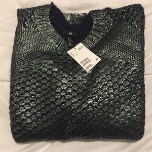 NWT Metallic Green Sweater